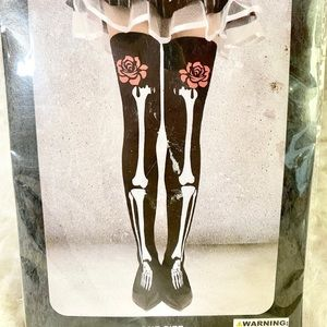 Accessories - NWT Skeleton Rose Adult Knee High Socks Goth